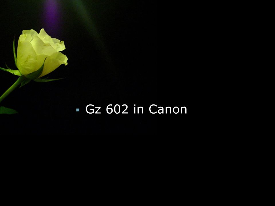  Gz 602 in Canon