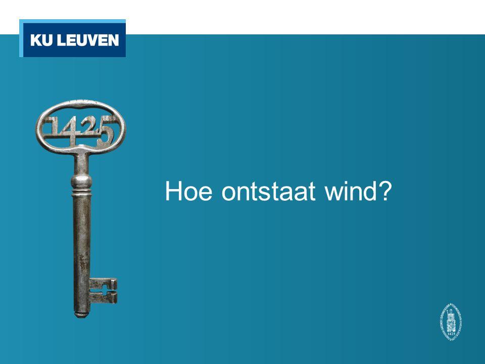 Hoe ontstaat wind?