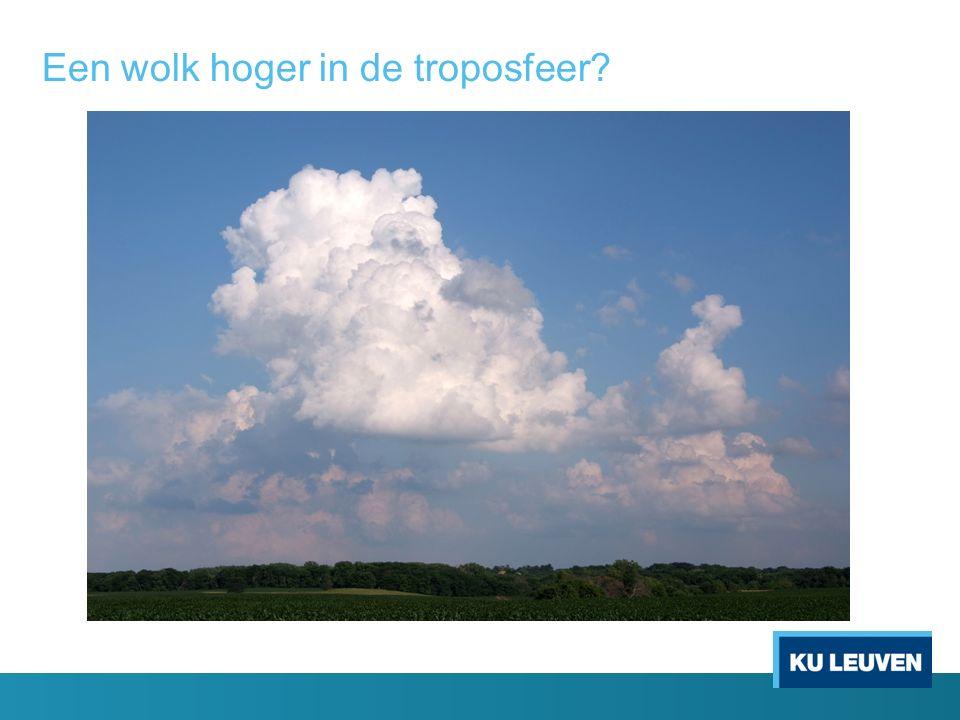 Een wolk hoger in de troposfeer?
