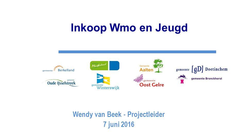 Inkoop Wmo en Jeugd Wendy van Beek - Projectleider 7 juni 2016