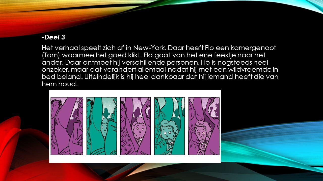 -Deel 3 Het verhaal speelt zich af in New-York.