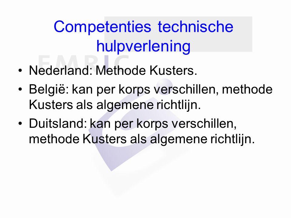 Competenties technische hulpverlening Nederland: Methode Kusters.