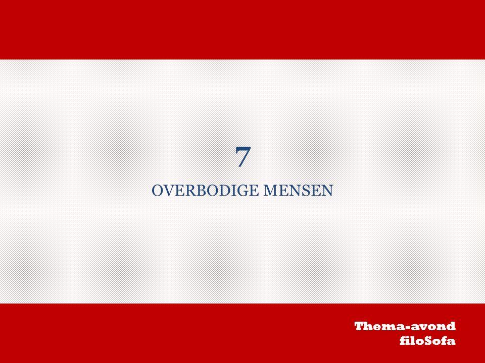 7 OVERBODIGE MENSEN Thema-avond filoSofa