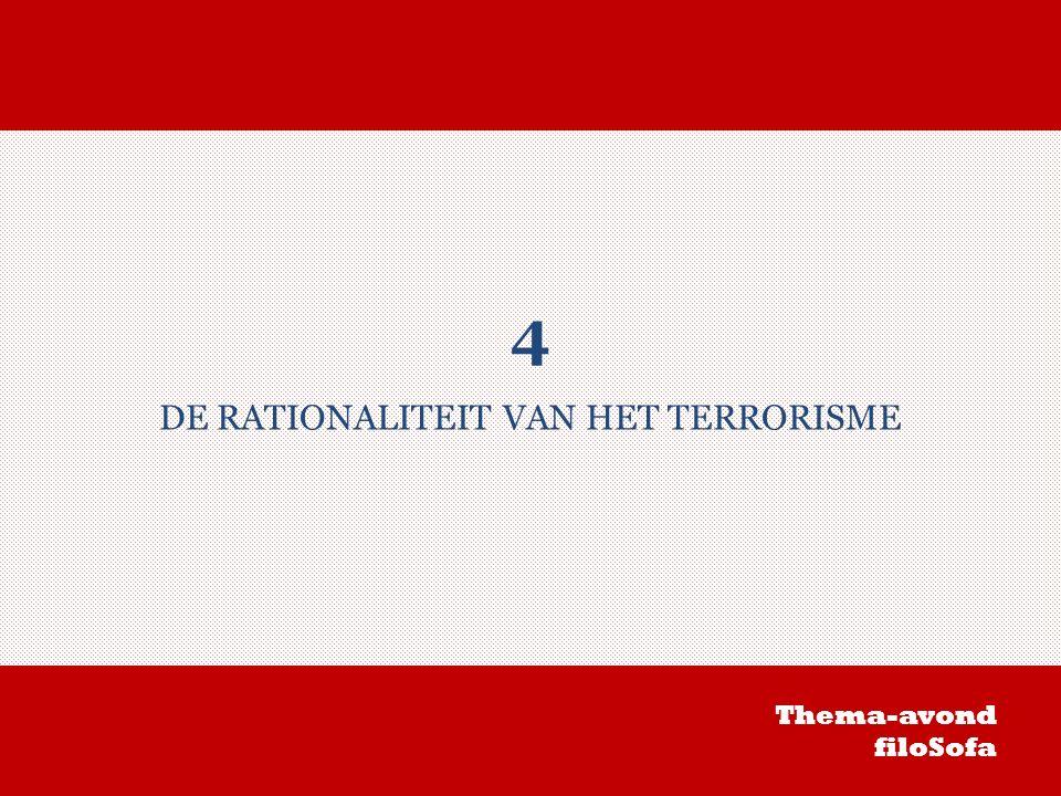 4 DE RATIONALITEIT VAN HET TERRORISME Thema-avond filoSofa
