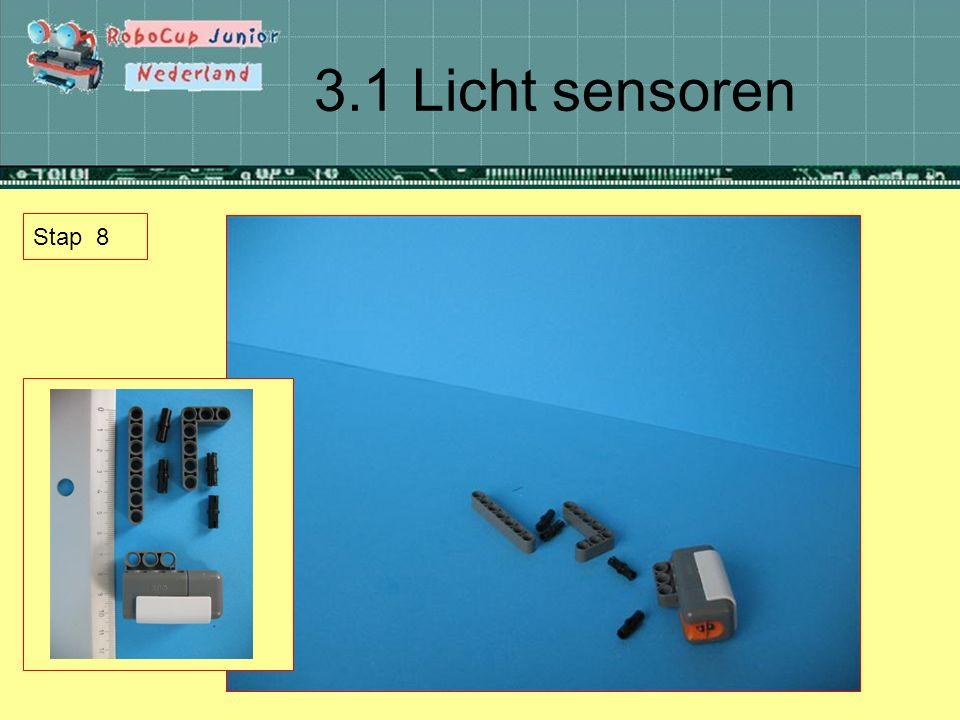 3.1 Licht sensoren Stap 8
