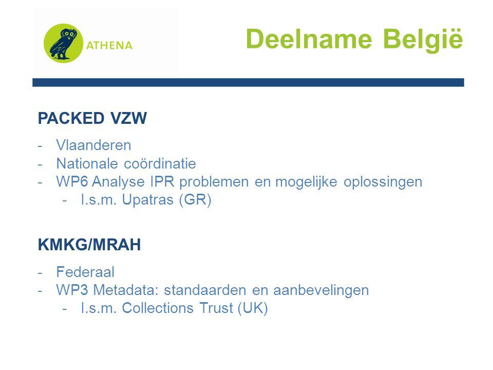 PACKED VZW -Vlaanderen -Nationale coördinatie -WP6 Analyse IPR problemen en mogelijke oplossingen -I.s.m.