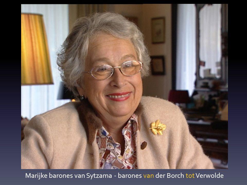 Marijke barones van Sytzama - barones van der Borch tot Verwolde