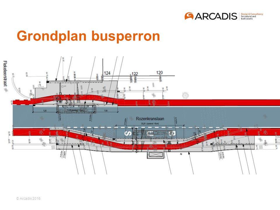© Arcadis 2016 Grondplan busperron
