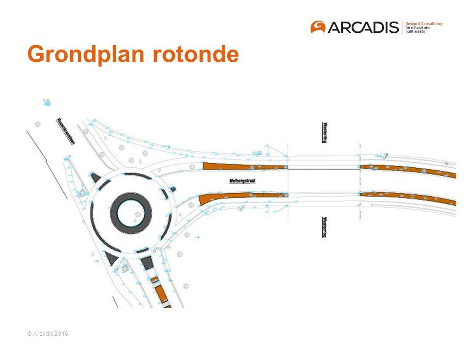 © Arcadis 2016 Grondplan rotonde
