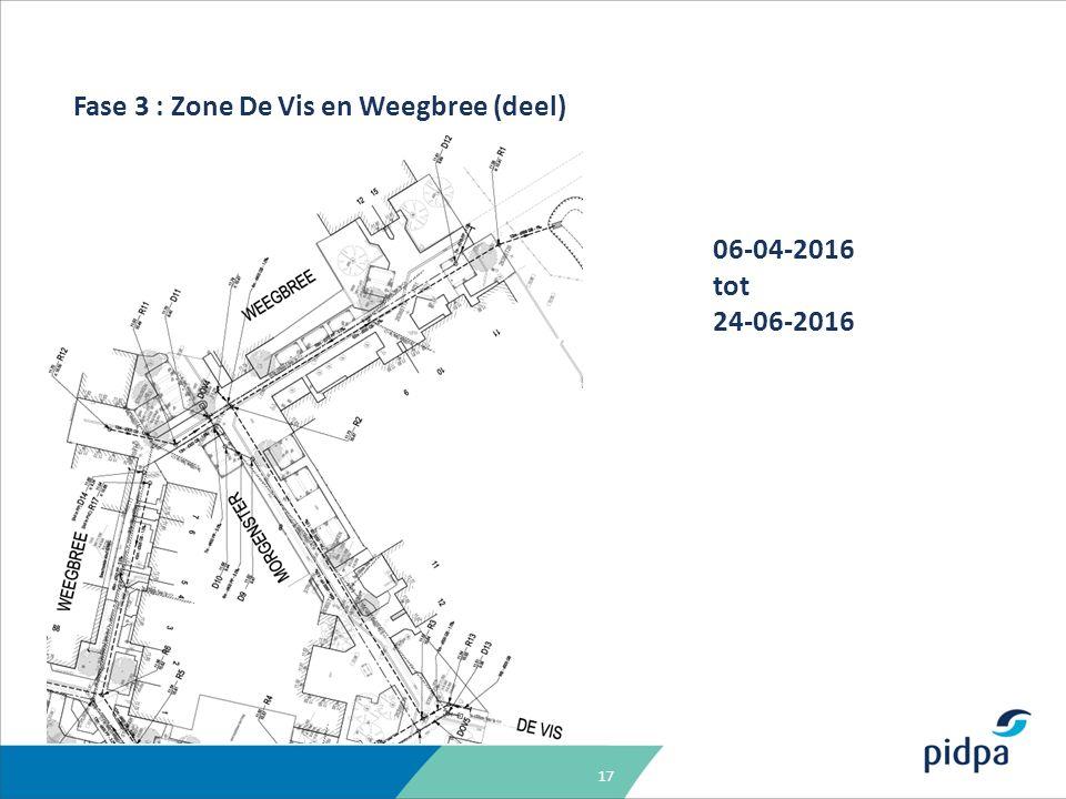17 Fase 3 : Zone De Vis en Weegbree (deel) 06-04-2016 tot 24-06-2016