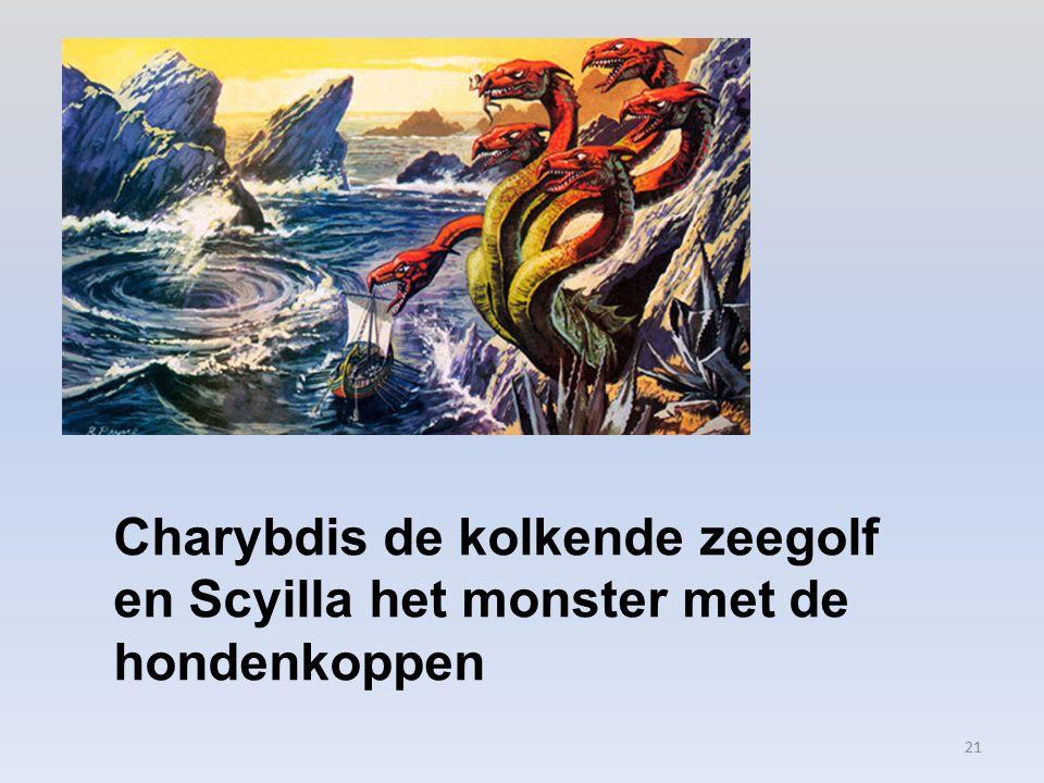 Charybdis de kolkende zeegolf en Scyilla het monster met de hondenkoppen 21
