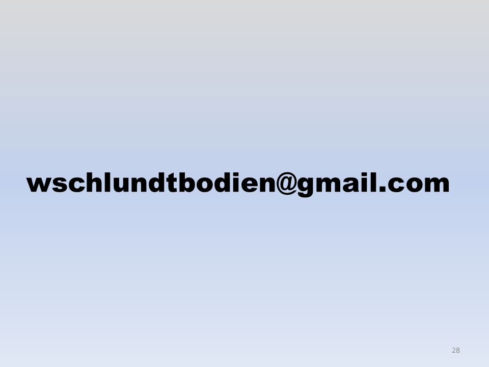 28 wschlundtbodien@gmail.com