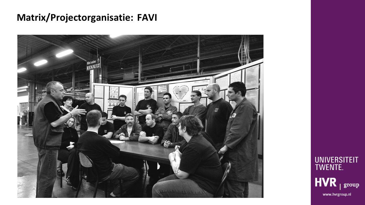 www.hvrgroup.nl Matrix/Projectorganisatie: FAVI