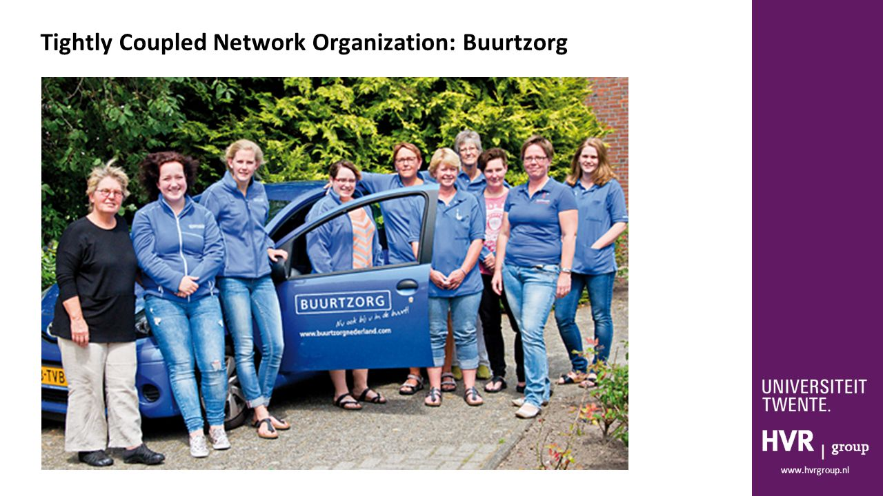 www.hvrgroup.nl Tightly Coupled Network Organization: Buurtzorg