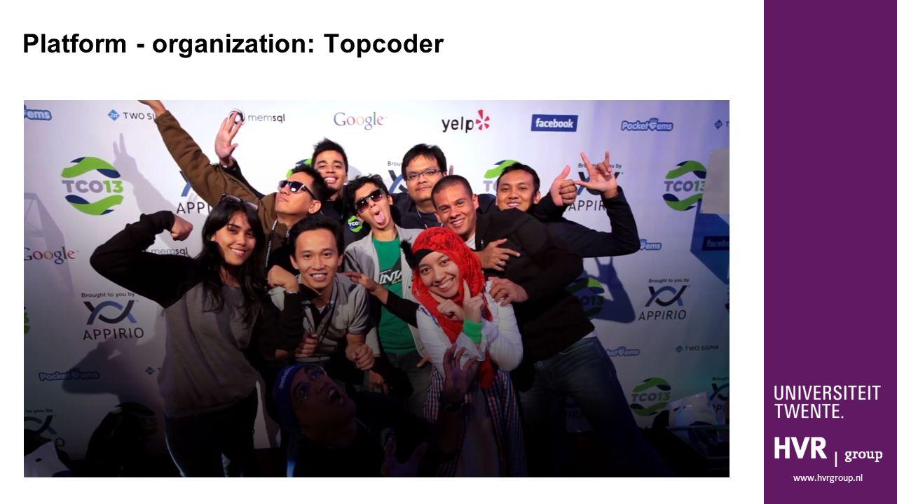 www.hvrgroup.nl Platform - organization: Topcoder
