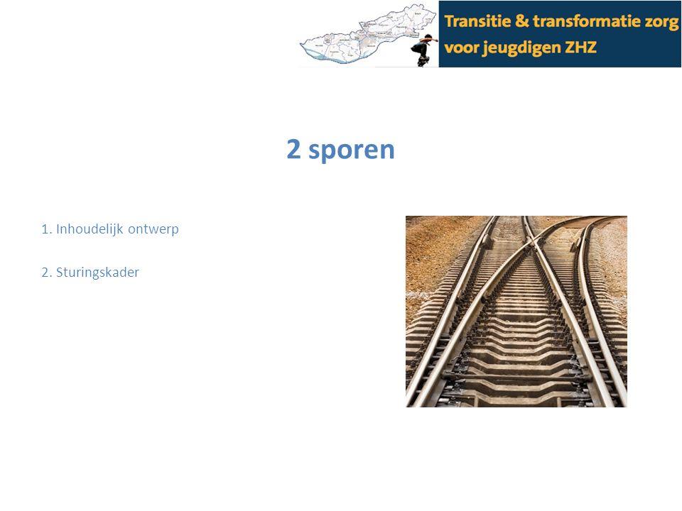 2 sporen 1. Inhoudelijk ontwerp 2. Sturingskader