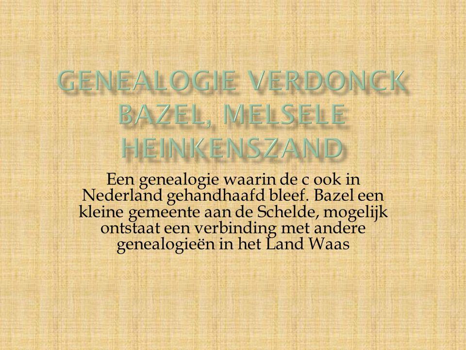 Een genealogie waarin de c ook in Nederland gehandhaafd bleef.