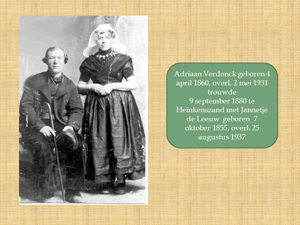 Adriaan Verdonck geboren 4 april 1860, overl.