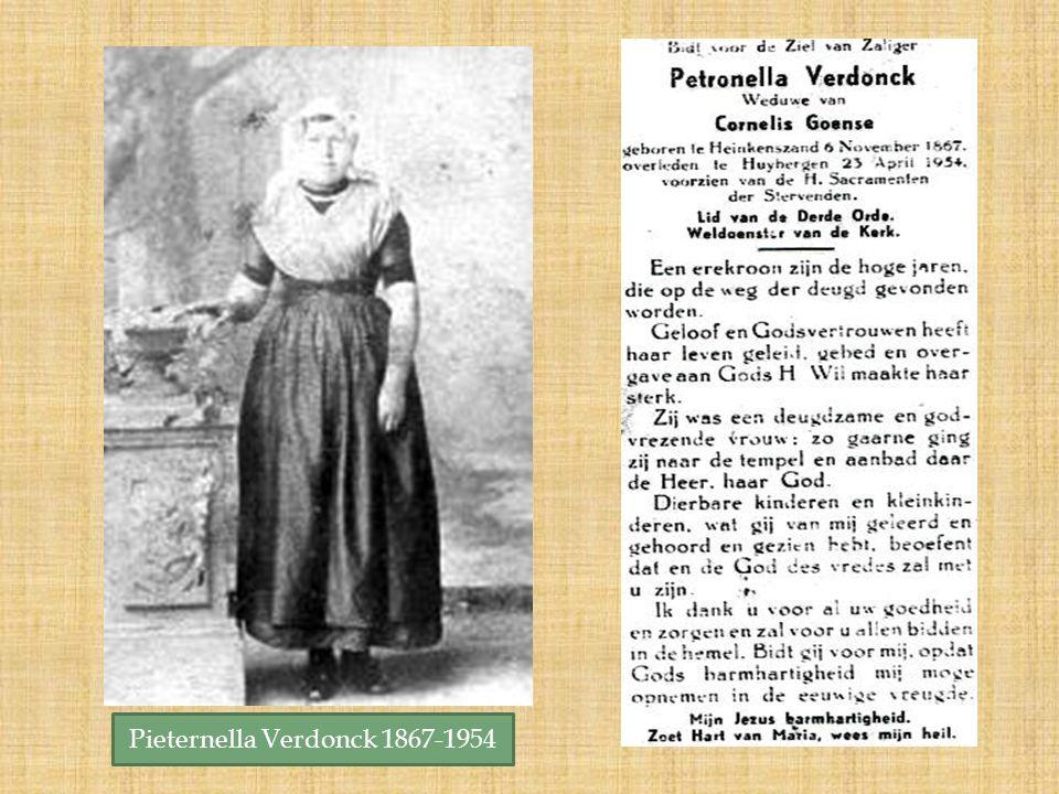 Pieternella Verdonck 1867-1954