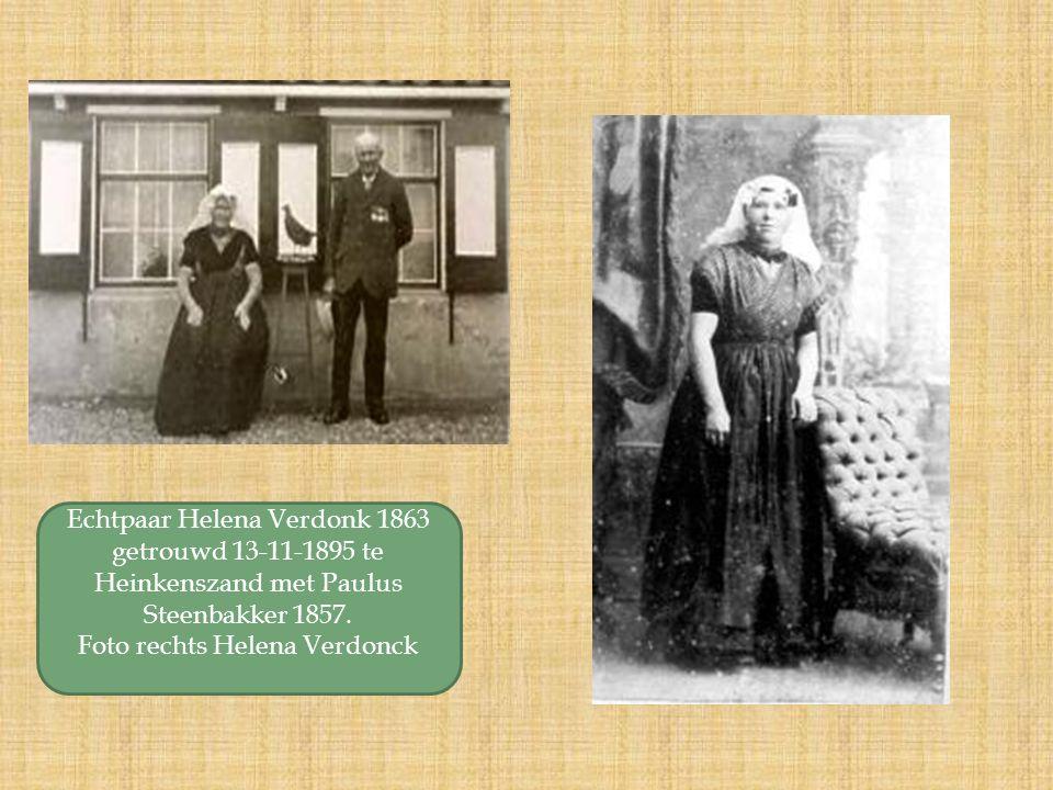 Echtpaar Helena Verdonk 1863 getrouwd 13-11-1895 te Heinkenszand met Paulus Steenbakker 1857.