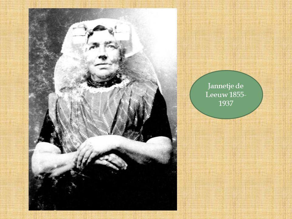 Jannetje de Leeuw 1855- 1937