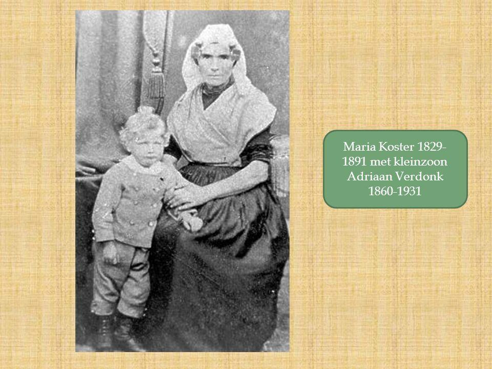 Maria Koster 1829- 1891 met kleinzoon Adriaan Verdonk 1860-1931