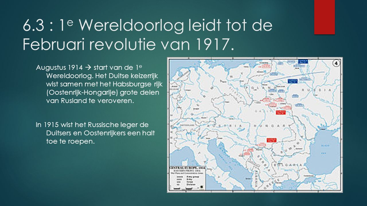 Grote tekorten door de oorlog Rusland had tijdens de 1 e W.O.