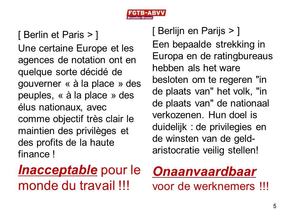 [ Berlin et Paris > ] Une certaine Europe et les agences de notation ont en quelque sorte décidé de gouverner « à la place » des peuples, « à la place » des élus nationaux, avec comme objectif très clair le maintien des privilèges et des profits de la haute finance .