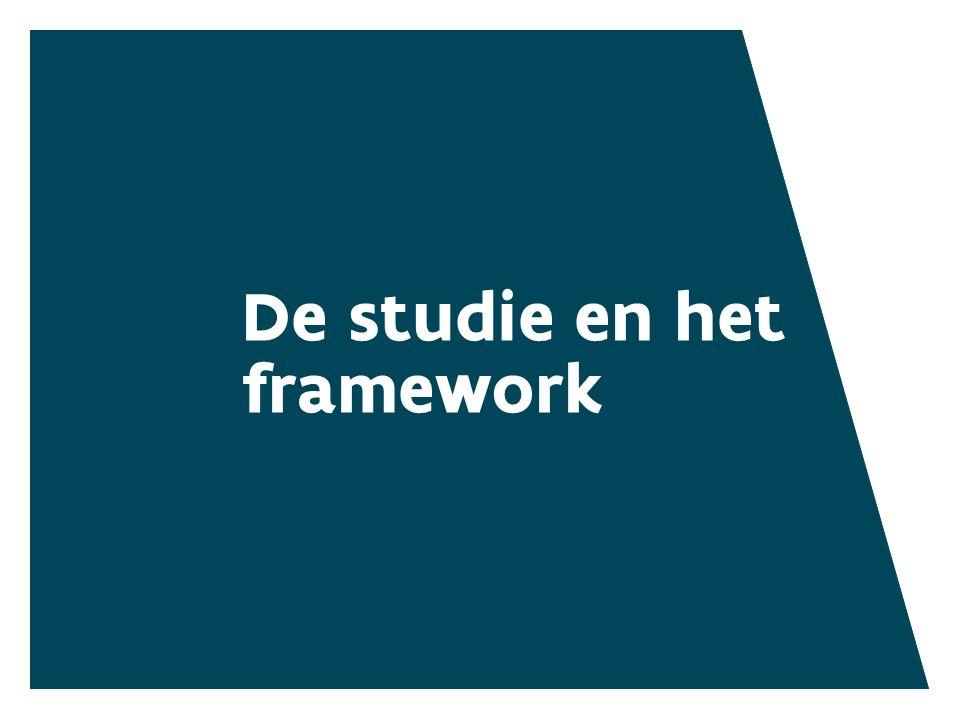 De studie en het framework HET FRAMEWORK