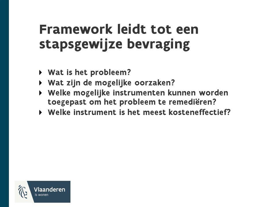 Framework leidt tot een stapsgewijze bevraging Wat is het probleem.