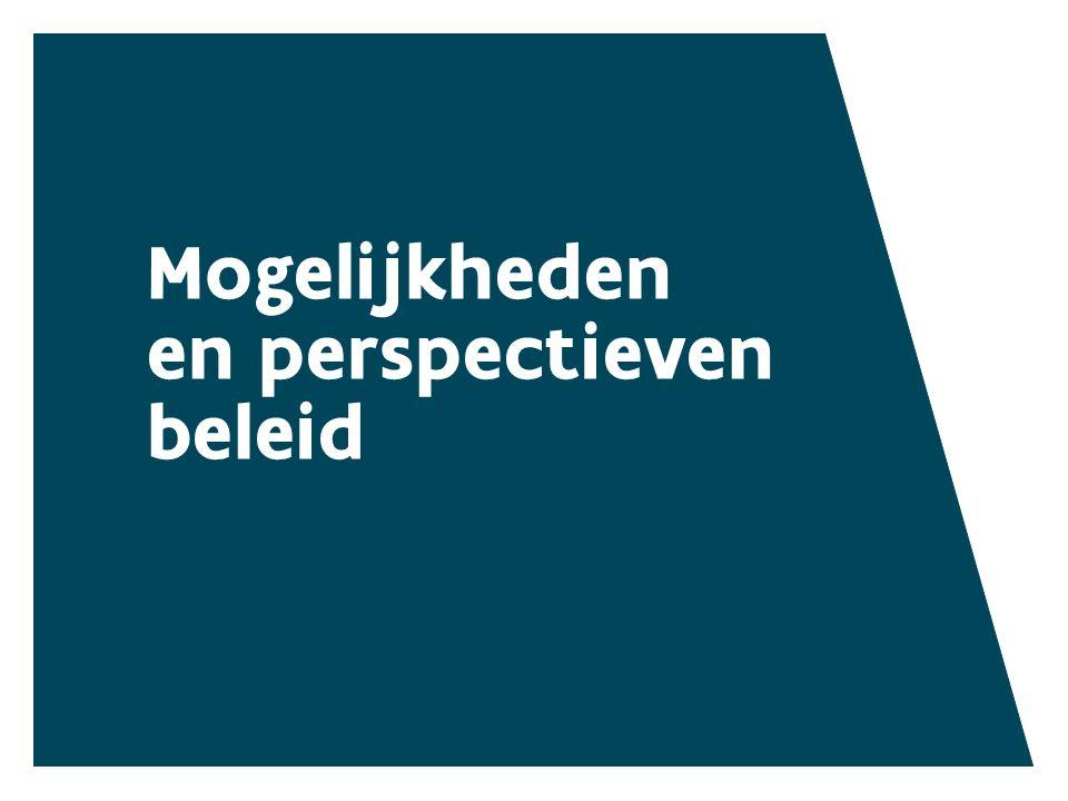 Mogelijkheden en perspectieven beleid MOGELIJKHEDEN EN PERSPECTIEVEN BELEID