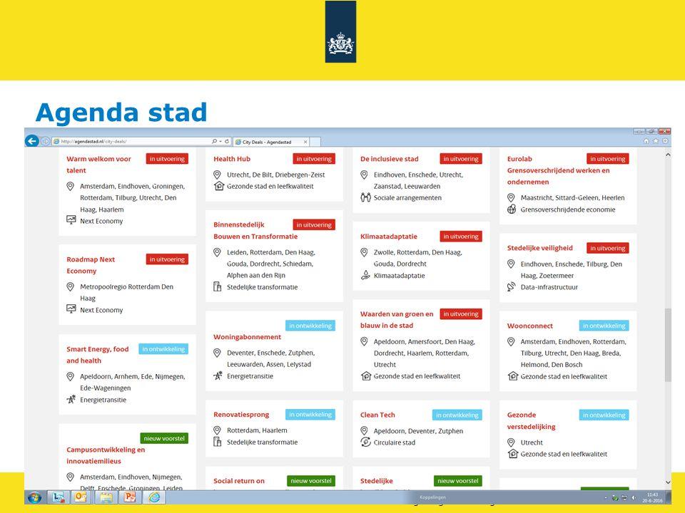 Rijkswaterstaat 17Leefomgeving - thema gezondheid RWS BEDRIJFSINFORMATIE Innovatie expo EU2016 https://vimeo.com/163990874 wachtwoord: V2 gemma.van.eijsden@rws.nl Slimme en gezonde stad Netwerkbijeenkomsten mobiliteit 23 juni www.slimmeengezondestad.nl www.slimmeengezondestad.nl Aanmelden via sgs@sme.nl.sgs@sme.nl