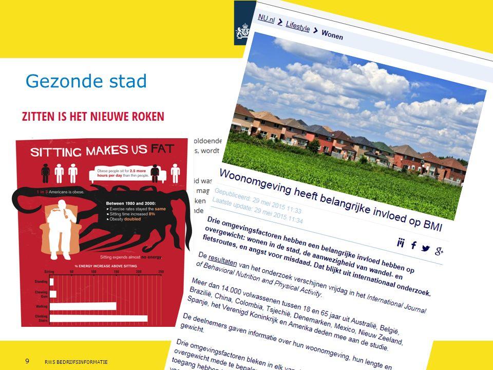 Rijkswaterstaat 9Leefomgeving - thema gezondheid RWS BEDRIJFSINFORMATIE Gezonde stad