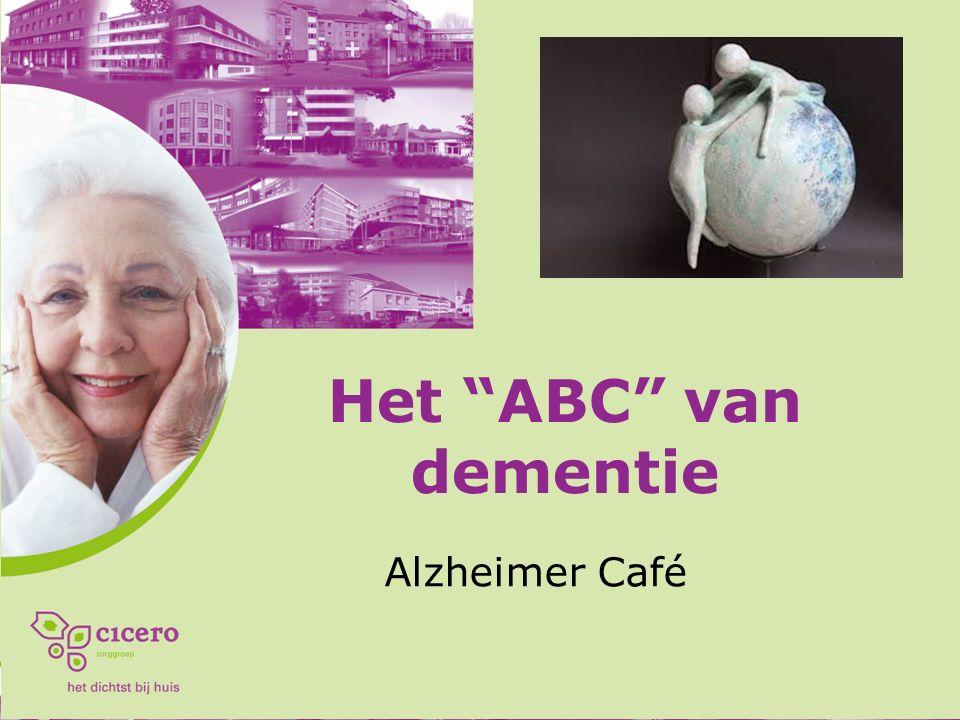 Dementie Een combinatie van symptomen/stoornissen op het gebied van cognitie, stemming en gedrag.