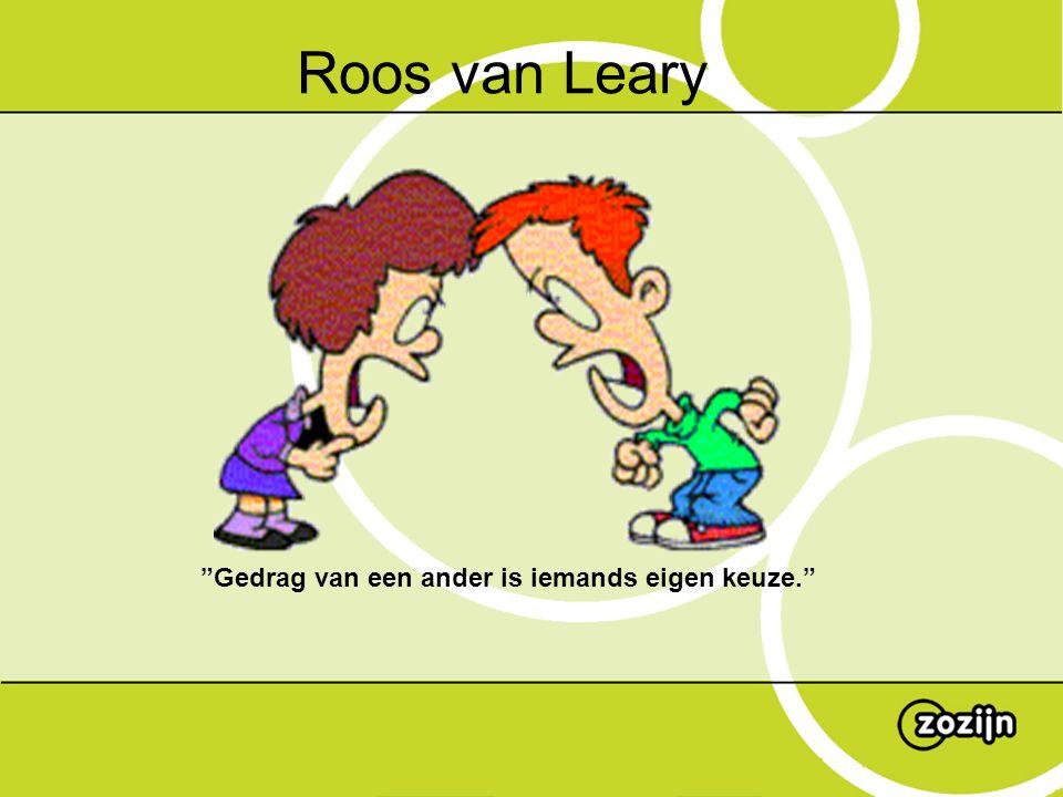 """""""Gedrag van een ander is iemands eigen keuze."""" Roos van Leary"""