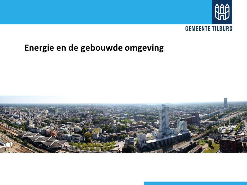 Energie en de bestaande gebouwde omgeving - Nieuwbouw beperkt - Tilburg: 92.495 woningen, nog te bouwen: 10-15.000 - Krimpgebieden...