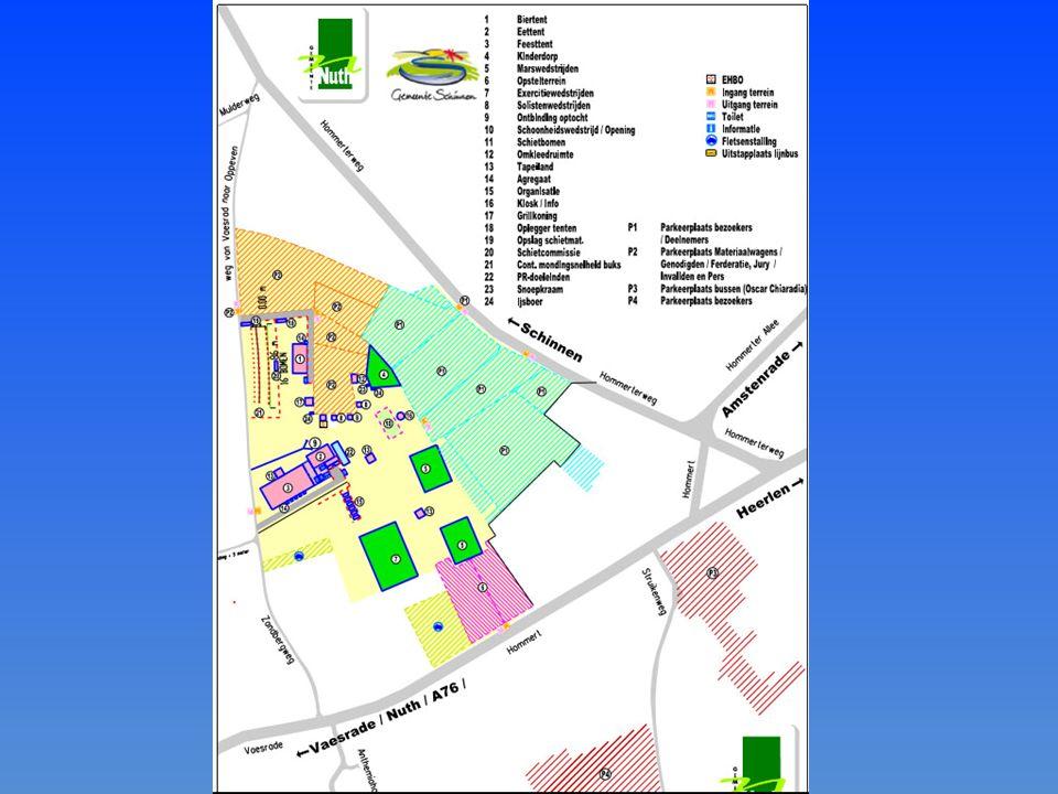 Locatie parkeerweiden en fietsenstallingen Diverse betaalde entrees - de volgende personen krijgen gratis toegang - thuiszorg en overige zorg voorzien van legitimatiebewijs Communicatie tussen de diverse groepen
