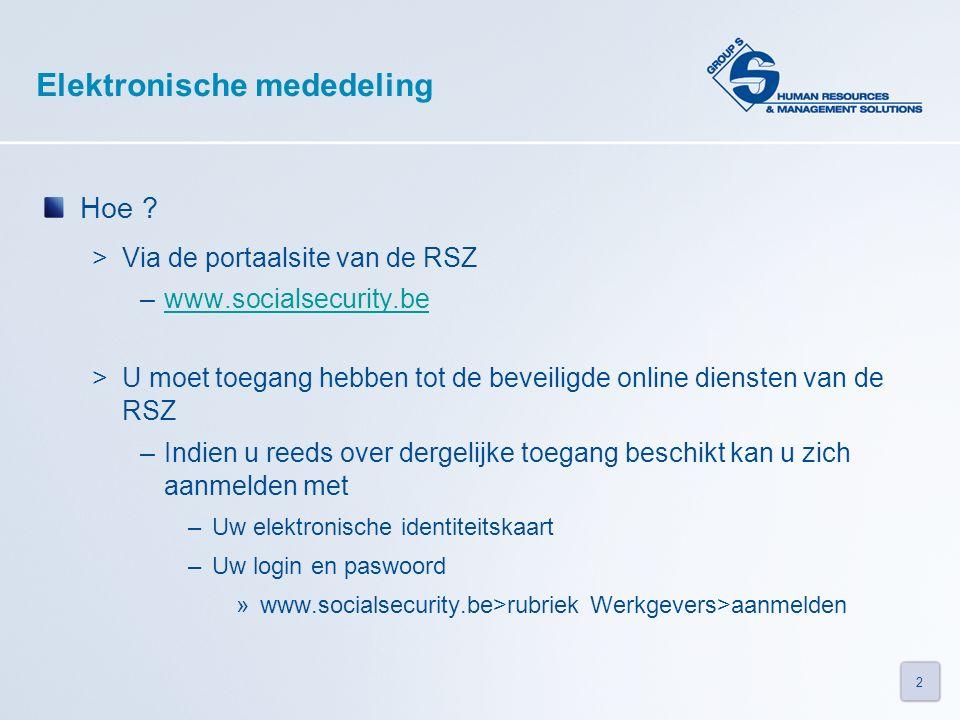 2 Elektronische mededeling Hoe .
