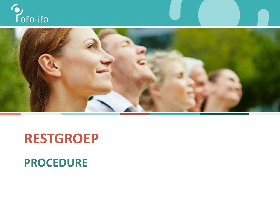 RESTGROEP PROCEDURE