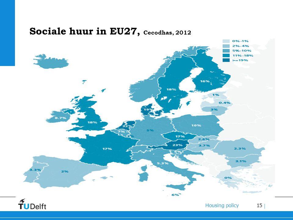 15 Housing policy | Sociale huur in EU27, Cecodhas, 2012