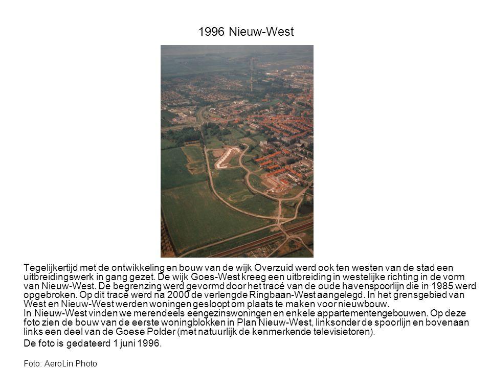 1996 Nieuw-West Tegelijkertijd met de ontwikkeling en bouw van de wijk Overzuid werd ook ten westen van de stad een uitbreidingswerk in gang gezet.