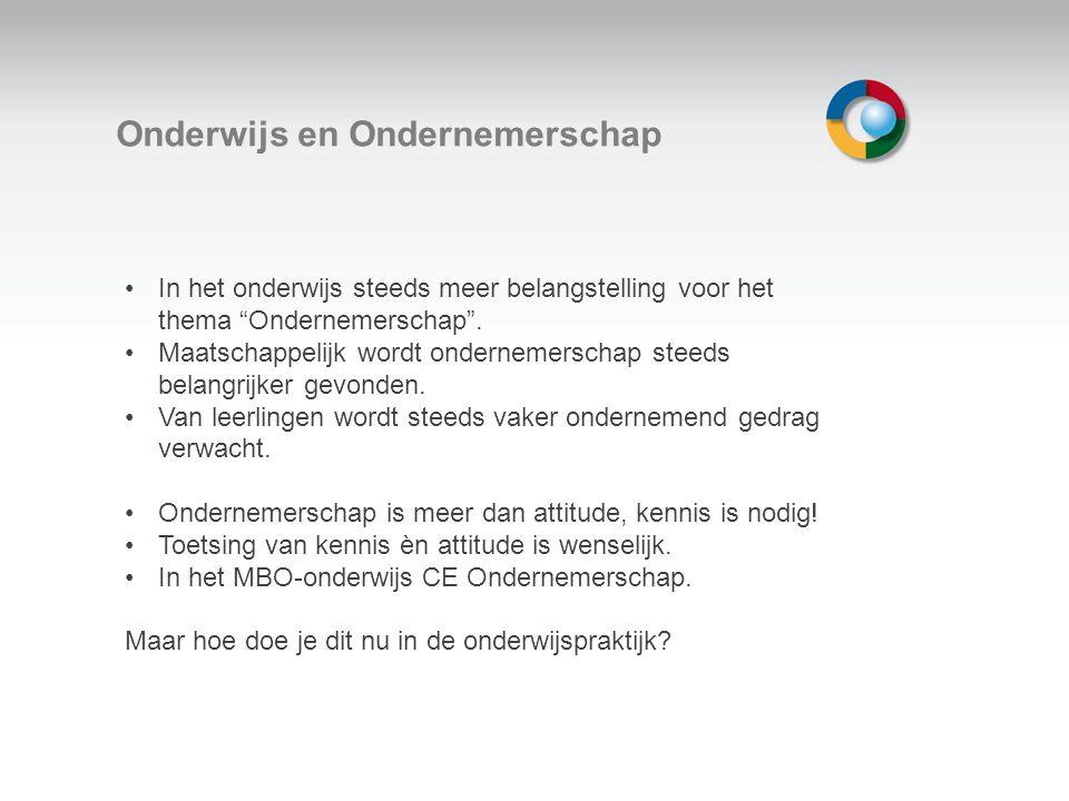 Welkom Oriëntatie op Ondernemerschap 1 Gericht op ondernemende medewerker die zich oriënteert op een eigen bedrijf.