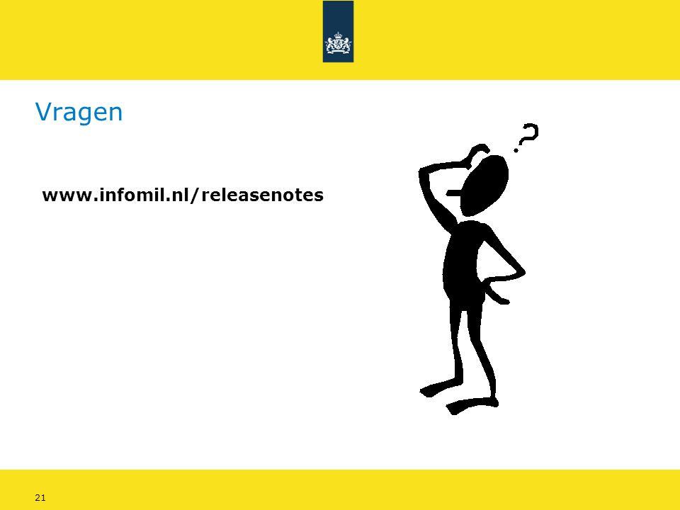 21 Vragen www.infomil.nl/releasenotes