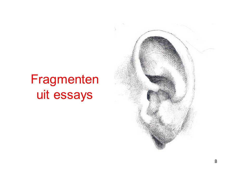 8 Fragmenten uit essays