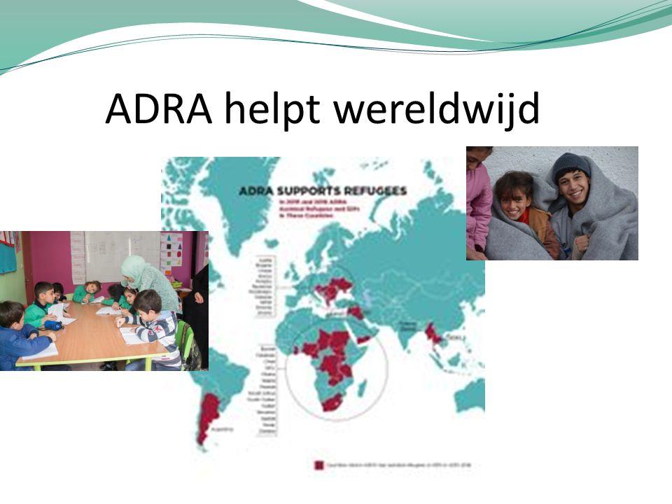 ADRA helpt wereldwijd