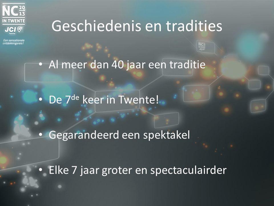 Geschiedenis en tradities Al meer dan 40 jaar een traditie De 7 de keer in Twente.