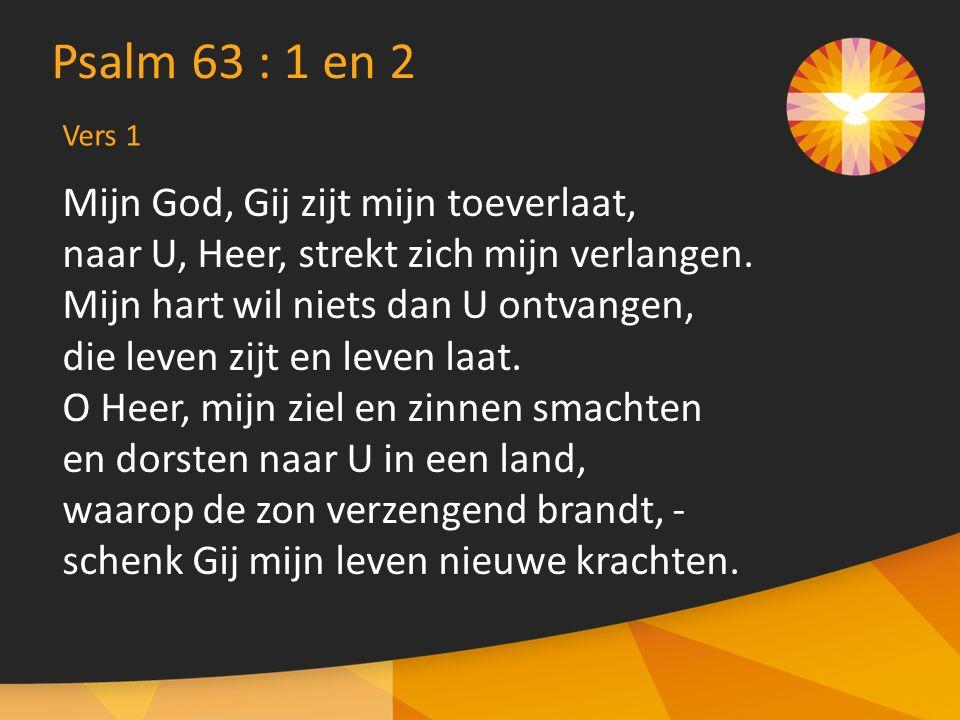 Mijn God, Gij zijt mijn toeverlaat, naar U, Heer, strekt zich mijn verlangen.