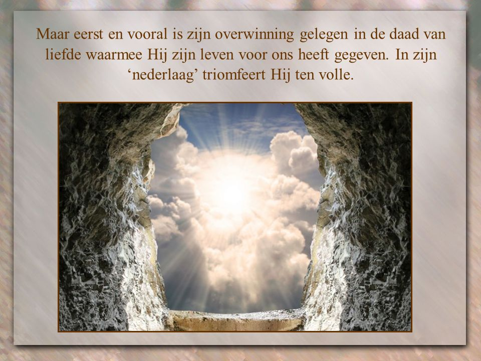 Hij is onder ons aanwezig en neemt ons mee naar de nieuwe schepping