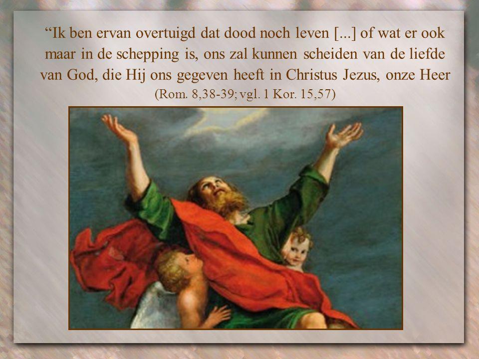 Wanneer Jezus iedere tegenspoed, tot zelfs de dood toe heeft overwonnen, kunnen ook wij, zo schrijft de apostel Paulus, in Hem iedere moeilijkheid ove