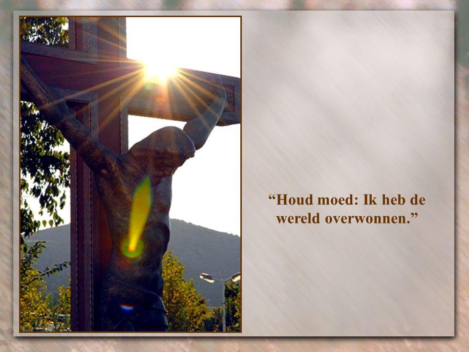 """""""Jullie zullen het zwaar te verduren krijgen in de wereld"""", zei Hij hen (Joh.16,33)."""